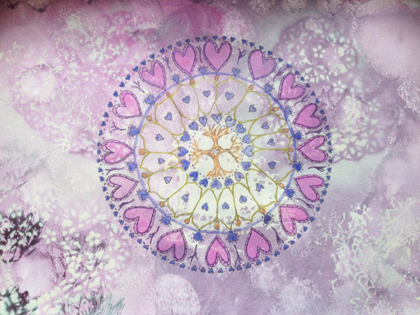 helly doel mixed media mandalas