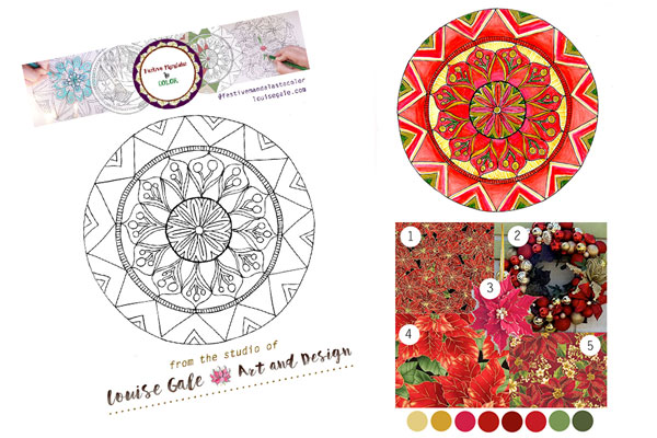 Free mandala coloring pages mandala 1 selection