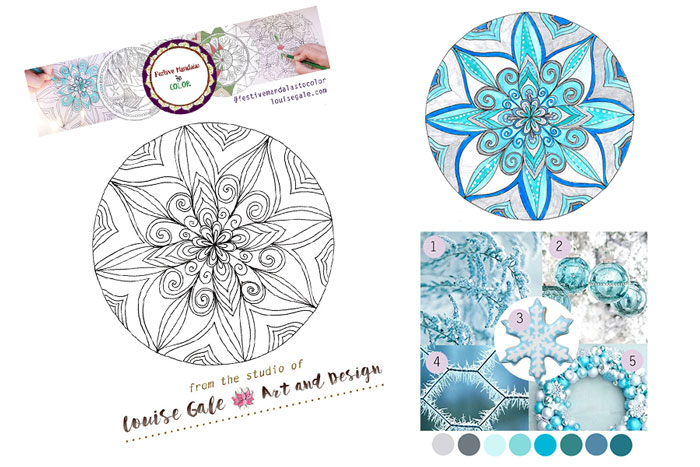 free mandala coloring pages blue frost