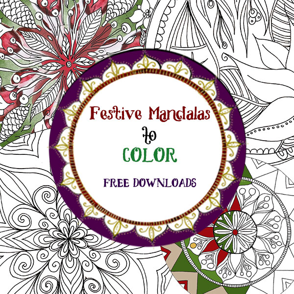 Free Festive Mandala Coloring pages color inspiration videos