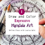Draw and Color Expressive Mandala Art