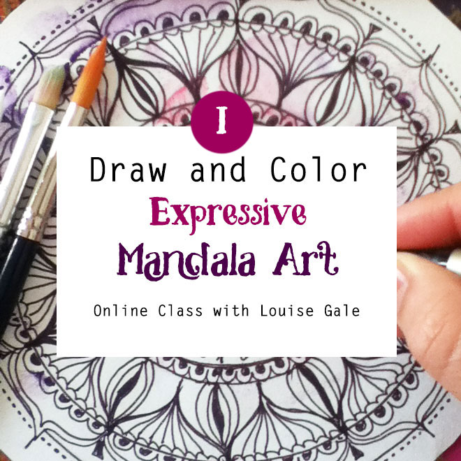 Draw And Color Expressive Mandala