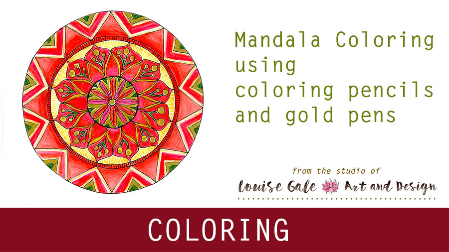 Free Mandala Coloring pages Video 1