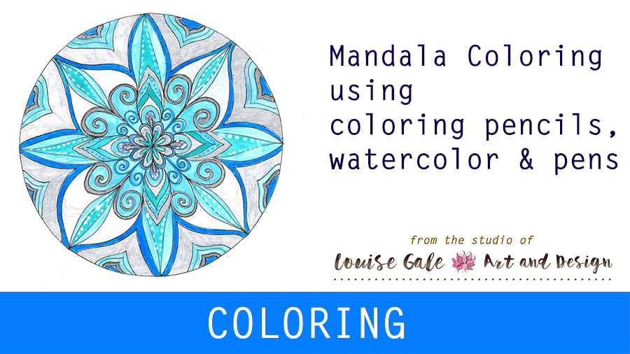 free mandala coloring pages and video