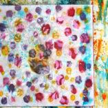background paintings mixed media mandala class