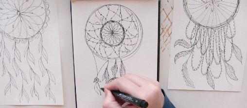 drawing dreamcatchers mixed media mandalas online class