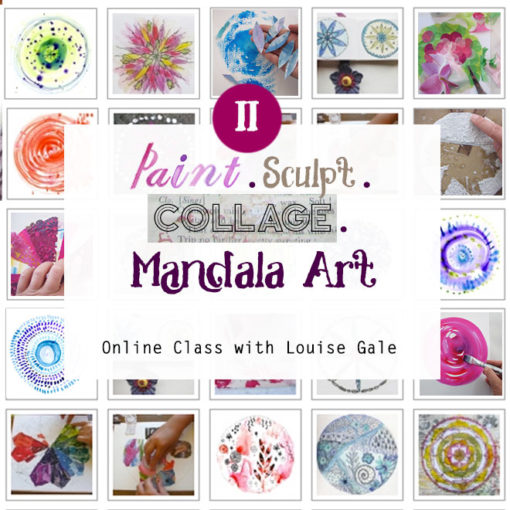 paint, sculpt and collage mandala art