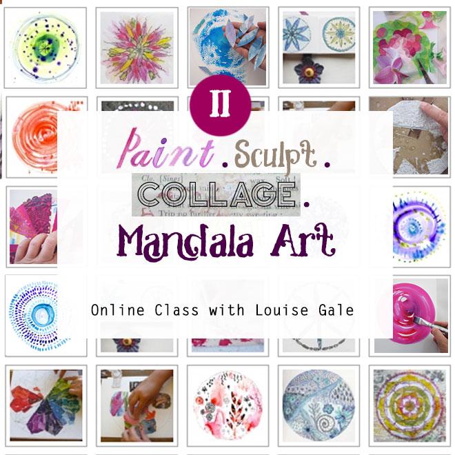paint, sculpt and collage mandala art