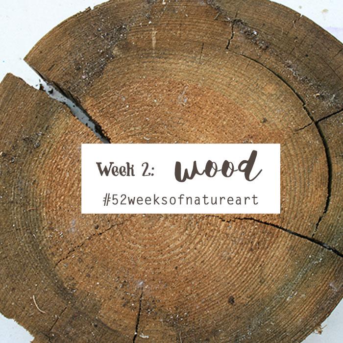 wood 52 weeks of nature art