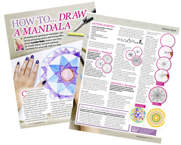 Spirit & Dstiny magazine how to draw a mandala article