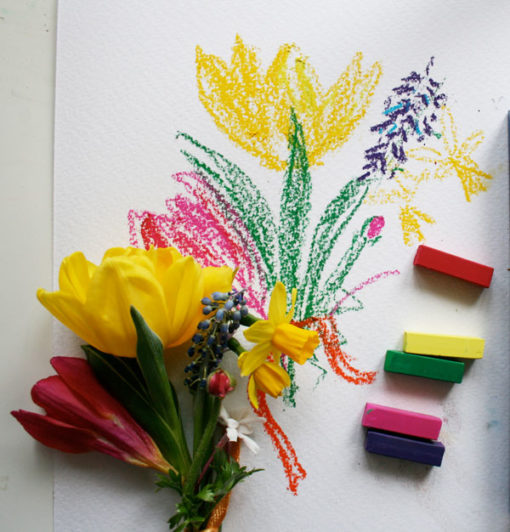 bouquet sketch and paint sketchbook