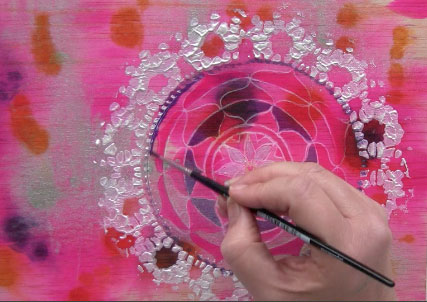 mandala on ink wood background mixed media mandalas online class