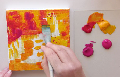 painting backgrounds for mixed media mandalas online class