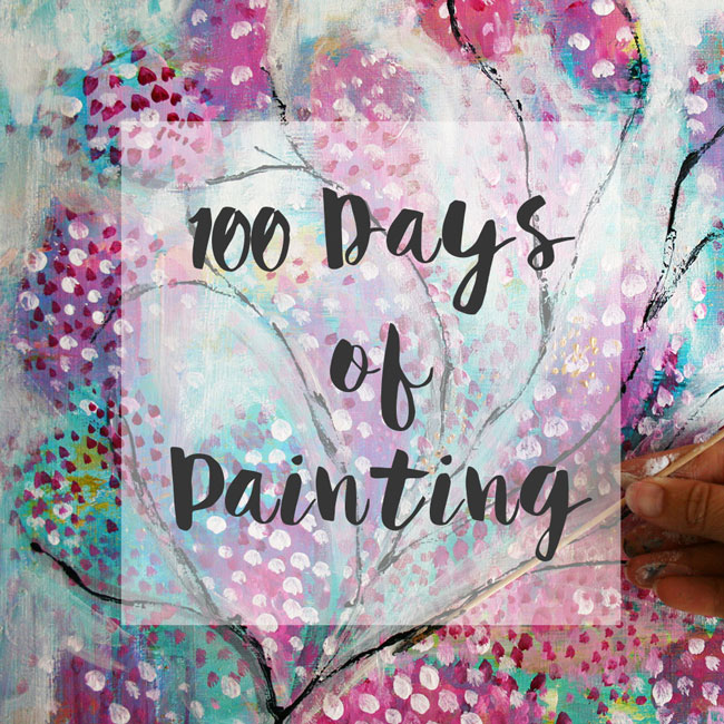 100 days of painting button
