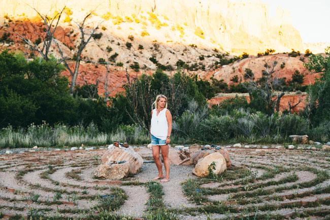 Louise Gale Ghost Ranch taken by A Global Walk