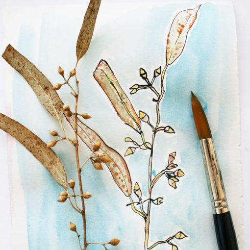 Sketching autumn with Louise Gale