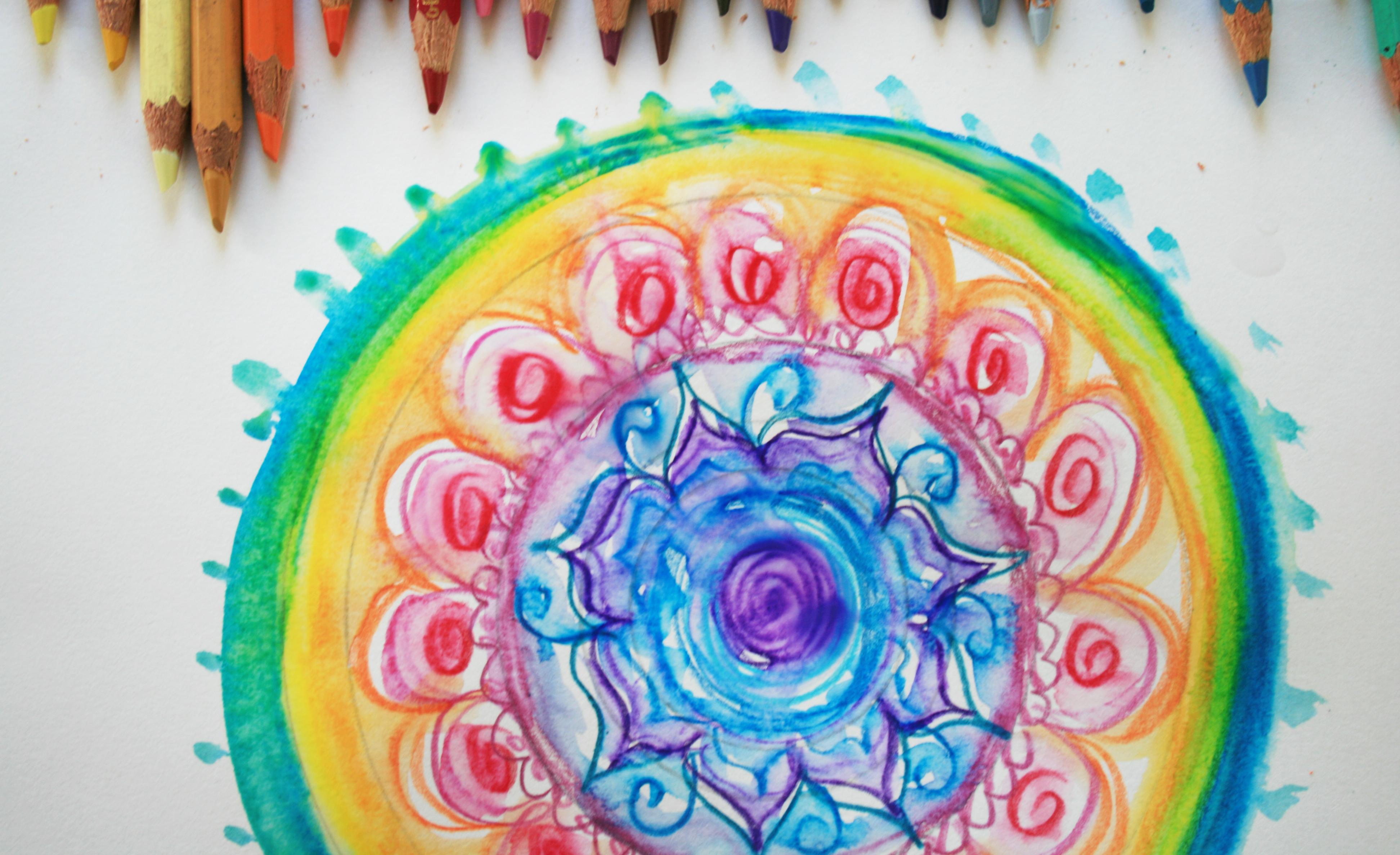 Color art mandala wonders - Draw And Color Expressive Mandala Art Mandala I