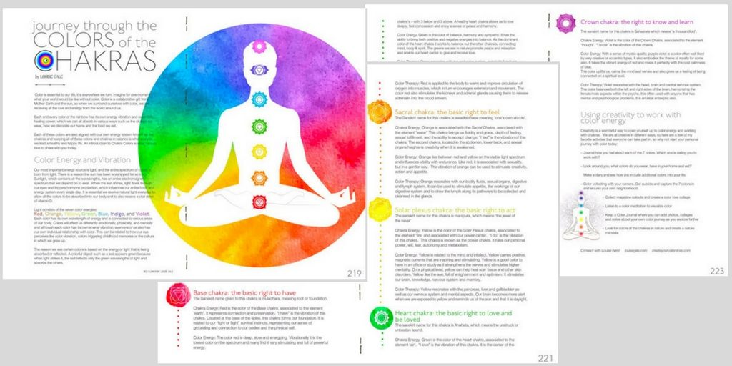 Amy Butler Blossom Magazine - Louise Gale article - Journey through the colors of the chakras