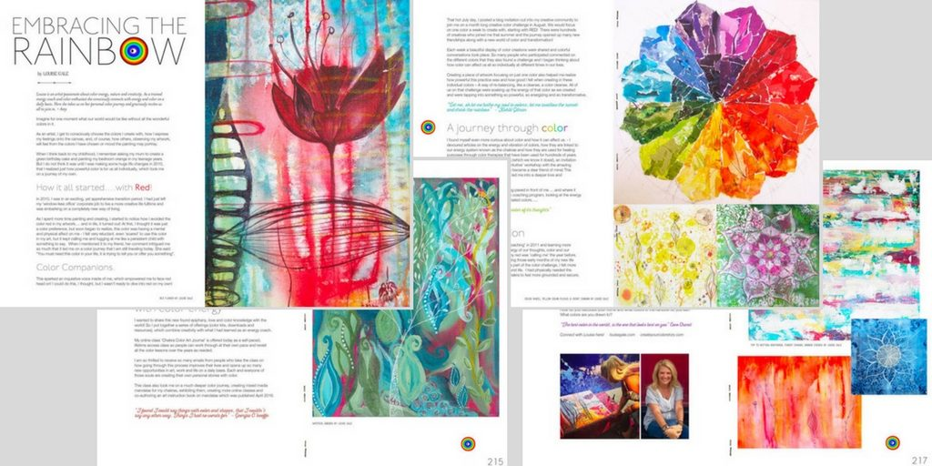 Amy Butler Blossom Magazine - Louise Gale article - Embracing the Rainbow