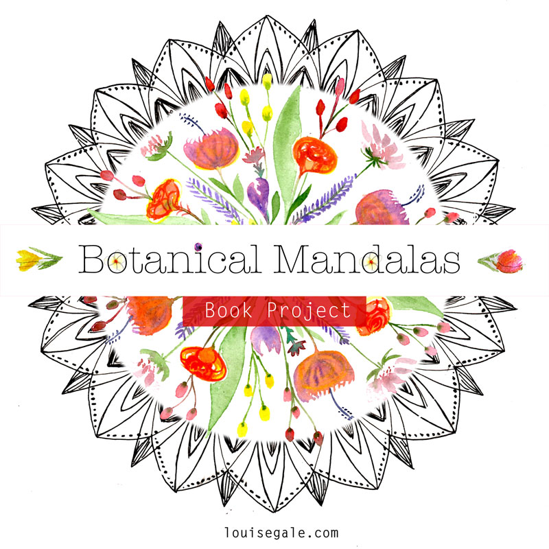 Botanical Mandalas Book Project Louise Gale