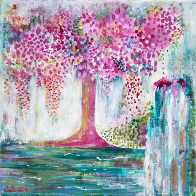 Sanctuary moments in nature painting by Louise Gale