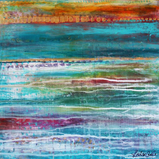 Beyond the sea nature painting by Louise Gale