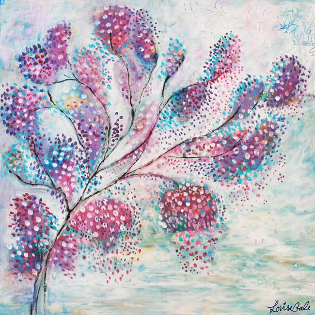 Love Blossoms Here nature painting by Louise Gale