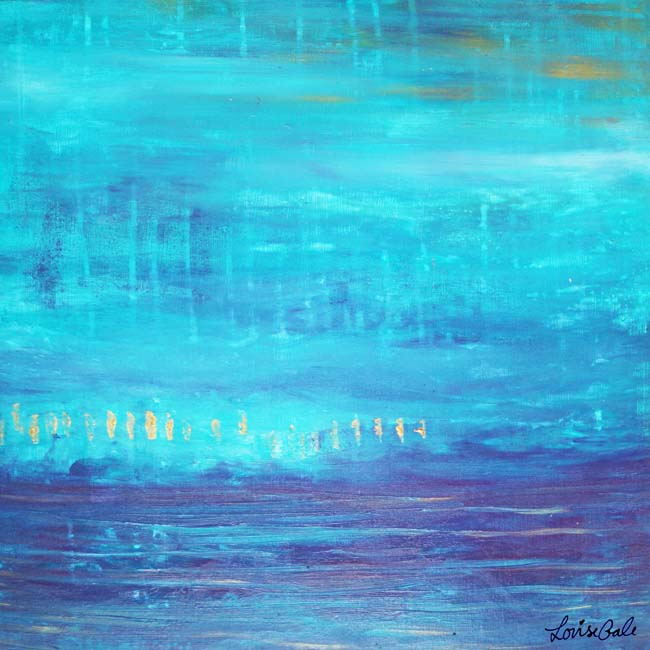 Turquoise Glistens painting by Louise Gale