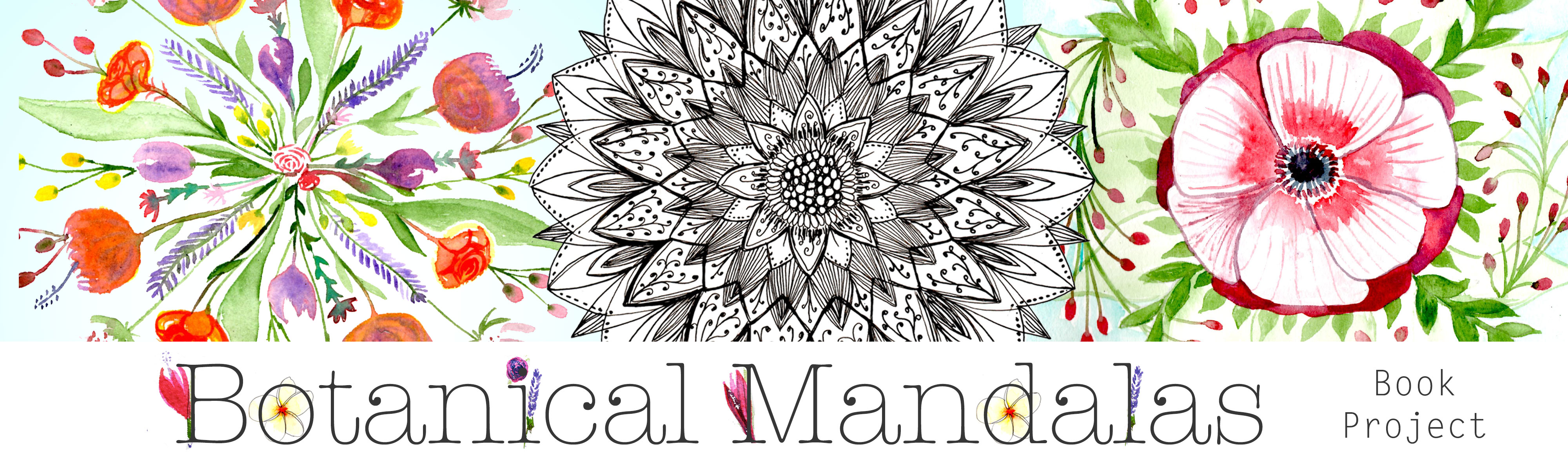 Botanical Mandala Book Project header Louise Gale