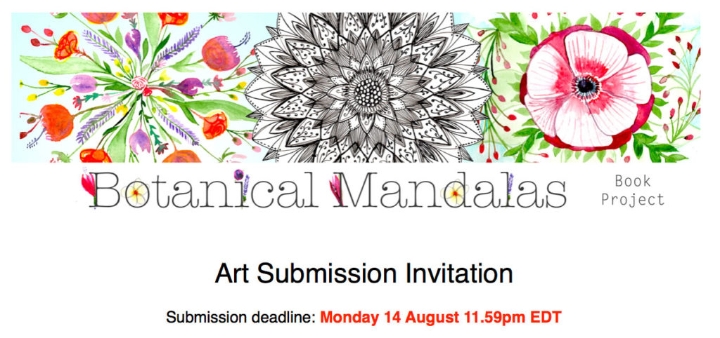 Art Submission Invitation: Botanical Mandalas Book