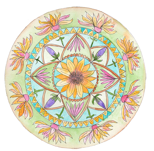 botanical mandala with Louise Gale