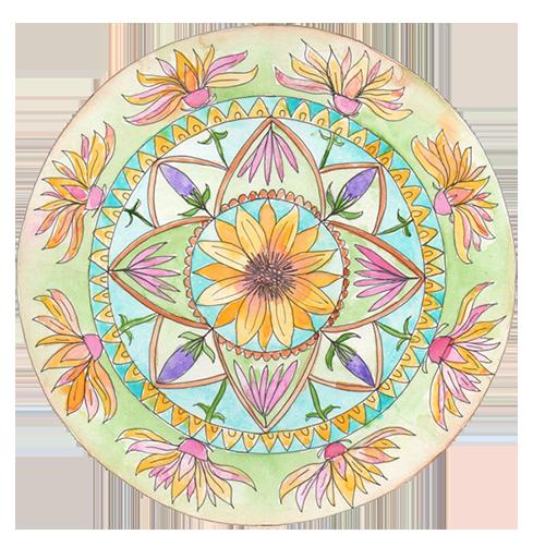 botanical mandala with Louise Gale