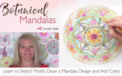 It's here! New mini class for creating a Botanical Mandala!