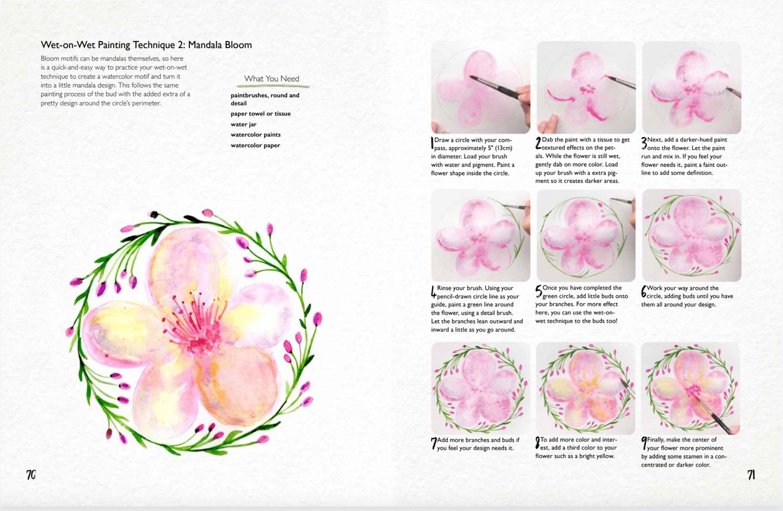 Botanical Mandalas Book: Draw, Paint and Create Expressive