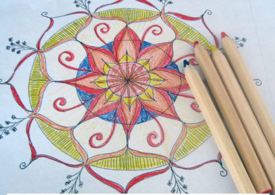 100 days of mandalas Day 1 Louise Gale