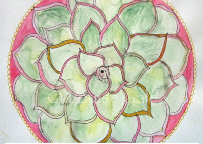 100 days of mandalas Day 13 Louise Gale