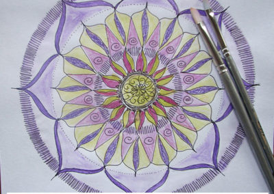 100 days of mandalas Day 2 Louise Gale