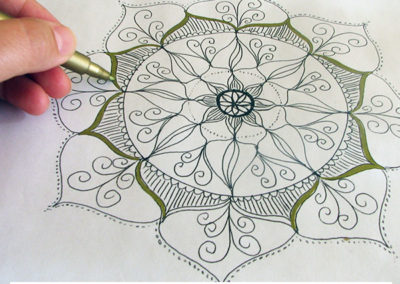 100 days of mandalas Day 3 Louise Gale