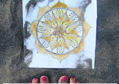 100 days of mandalas Day 6 Louise Gale
