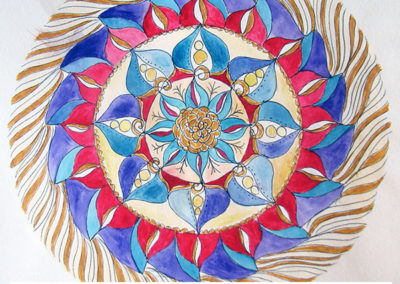 100 days of mandalas Day 7 Louise Gale