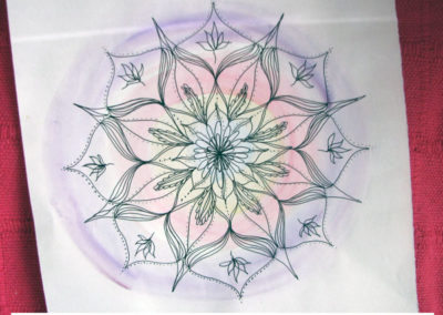 100 days of mandalas Day 8 Louise Gale
