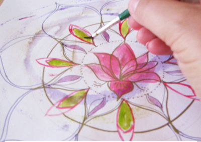 100 days of mandalas Day 18 Louise Gale
