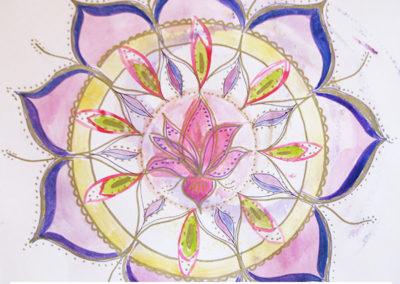 100 days of mandalas Day 18 Louise Gale