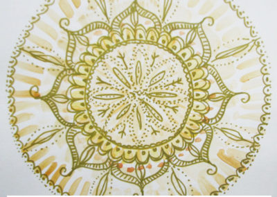 100 days of mandalas Day 31 Louise Gale