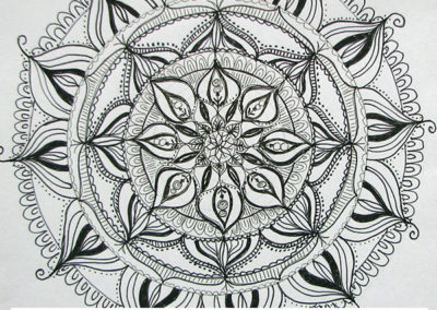100 days of mandalas Day 37 Louise Gale