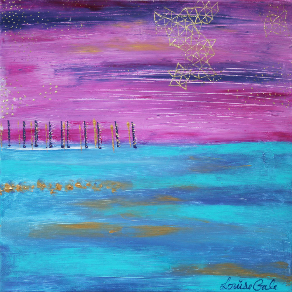 Sunset Reflections painting by Louise Gale