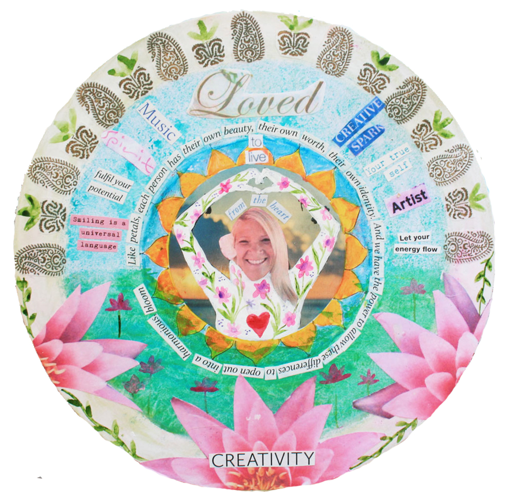 vision of me mantra mandala Louise Gale