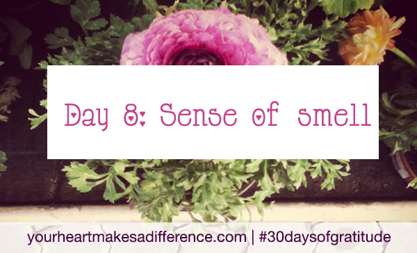 Day 8: Sense of smell #30daysofgratitude