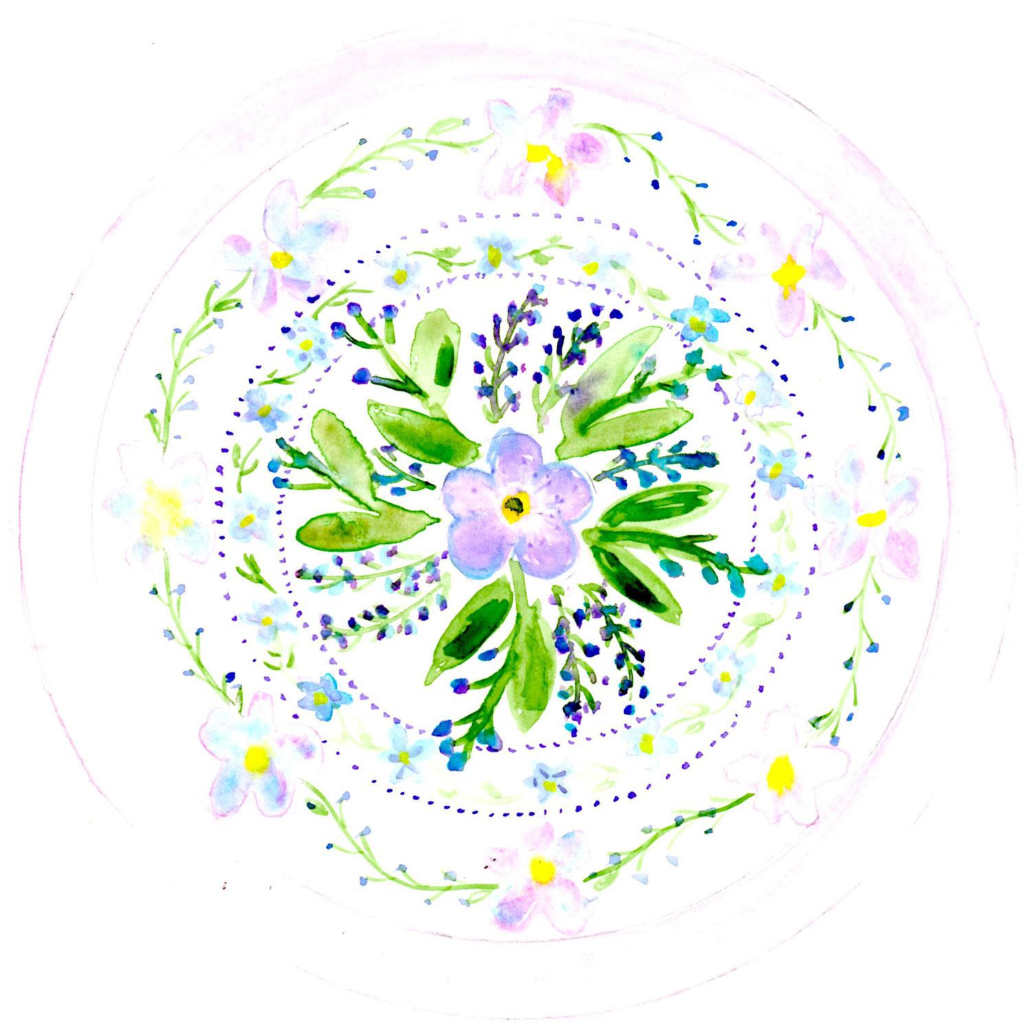 succulent botanical mandala Louise Gale