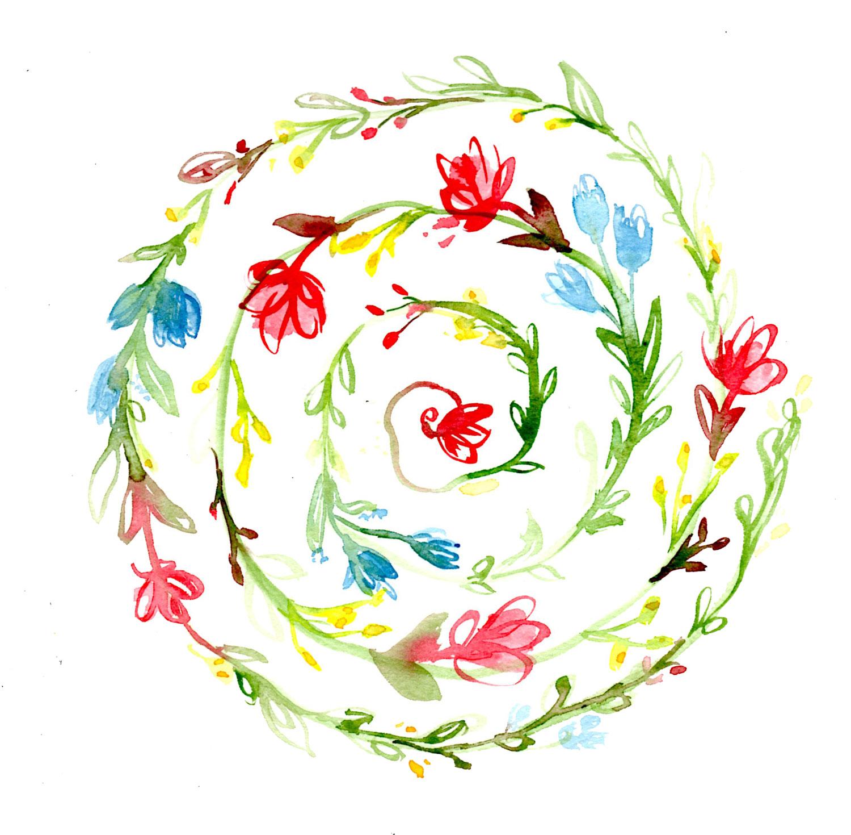 Hibiscus Botanical Mandala